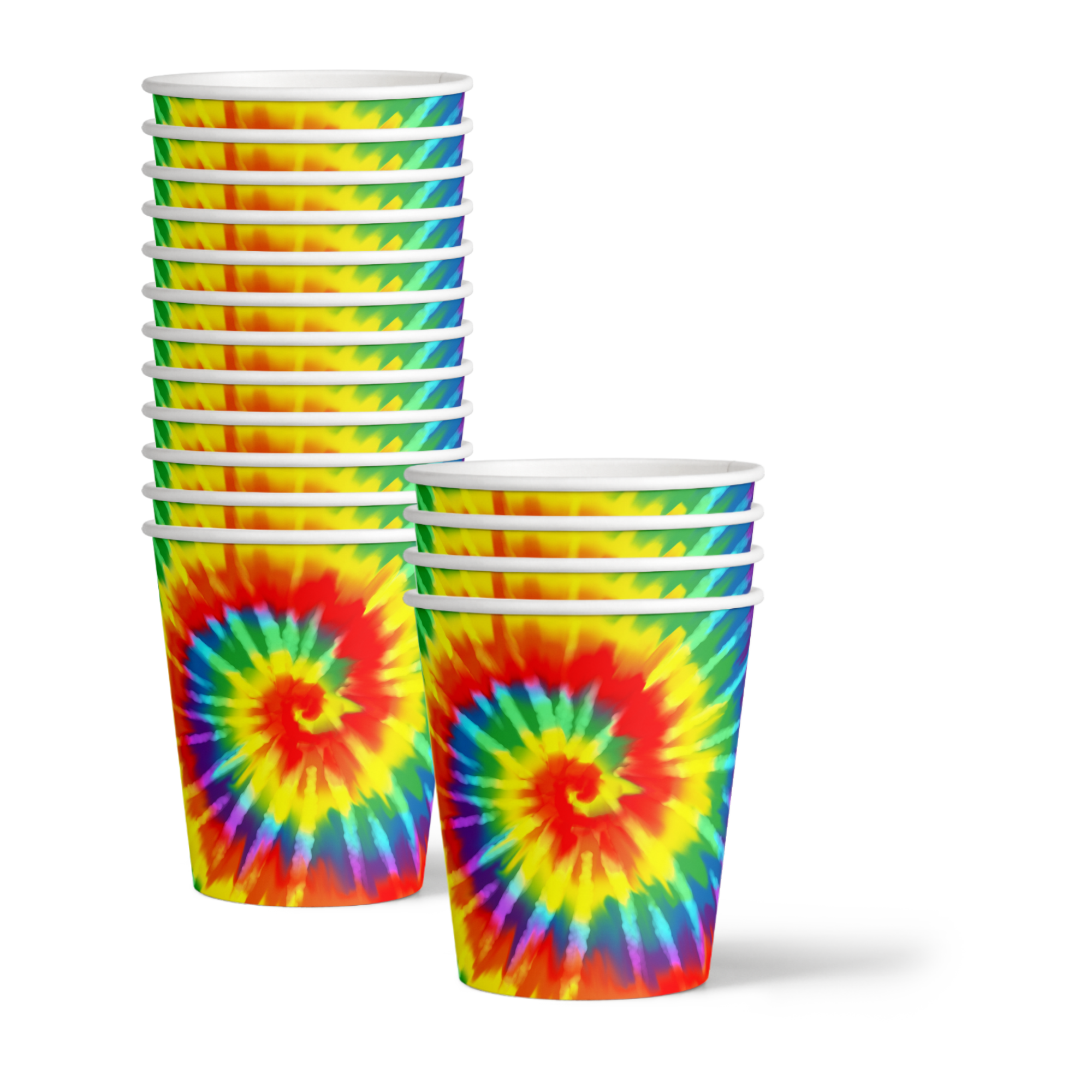 Tie Dye Birthday Party Tableware Kit For 16 Guests - BirthdayGalore.com