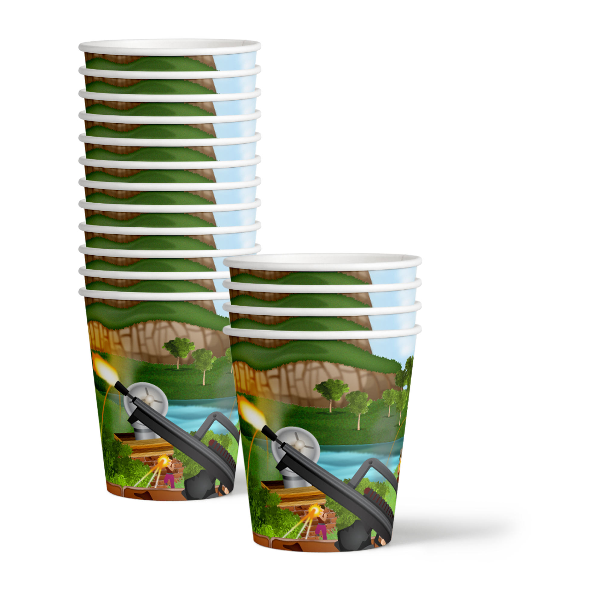 Fortress Birthday Party Tableware Kit For 16 Guests
