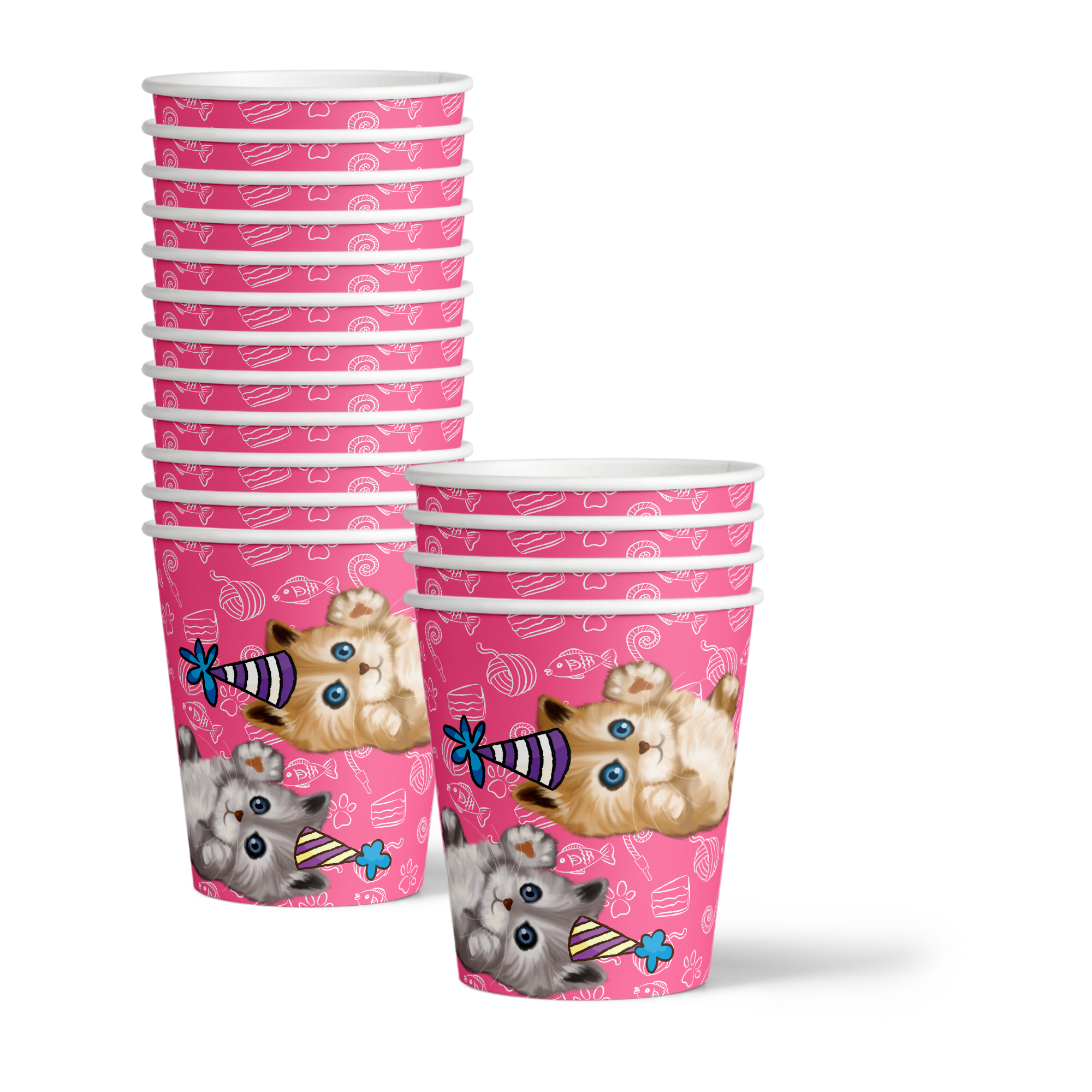 Kitty Cat Kitten Birthday Party Tableware Kit For 16 Guests
