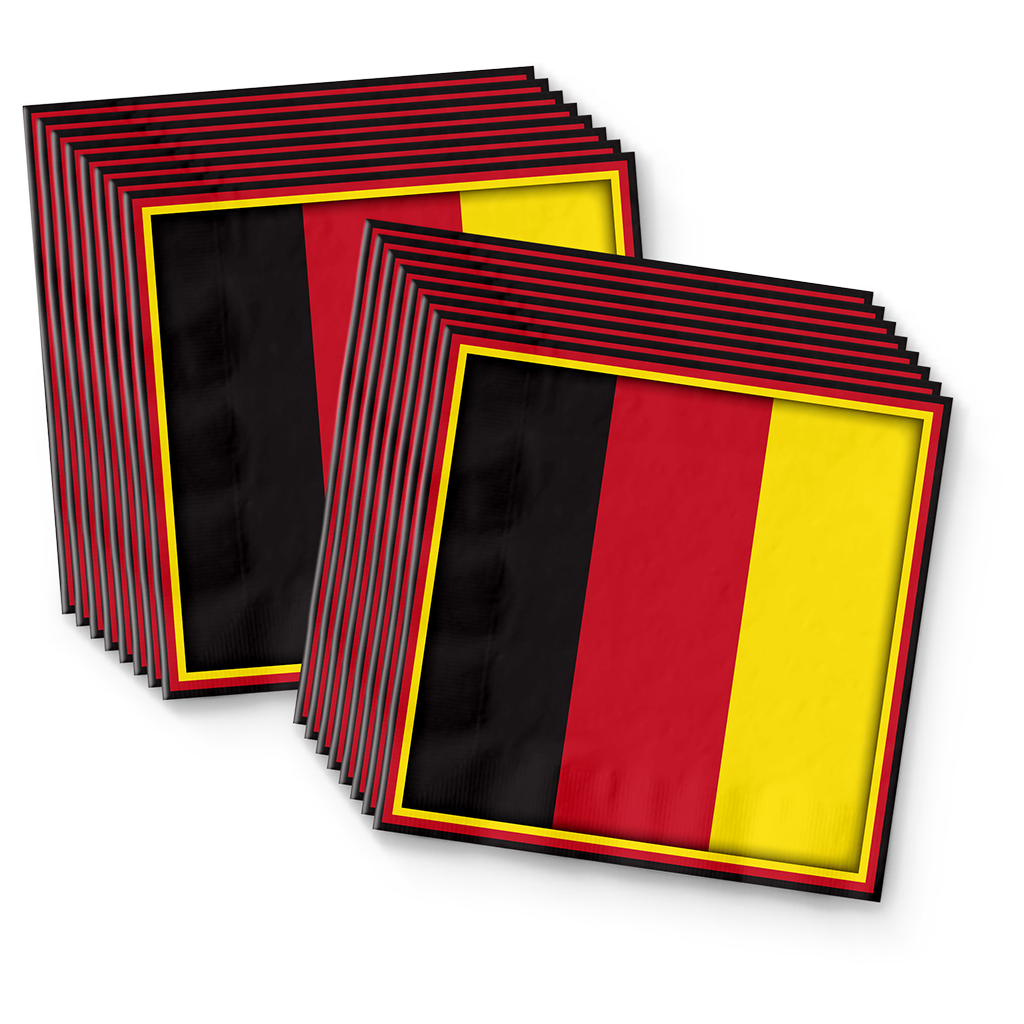 German Flag Birthday Party Tableware Kit For 16 Guests - BirthdayGalore.com