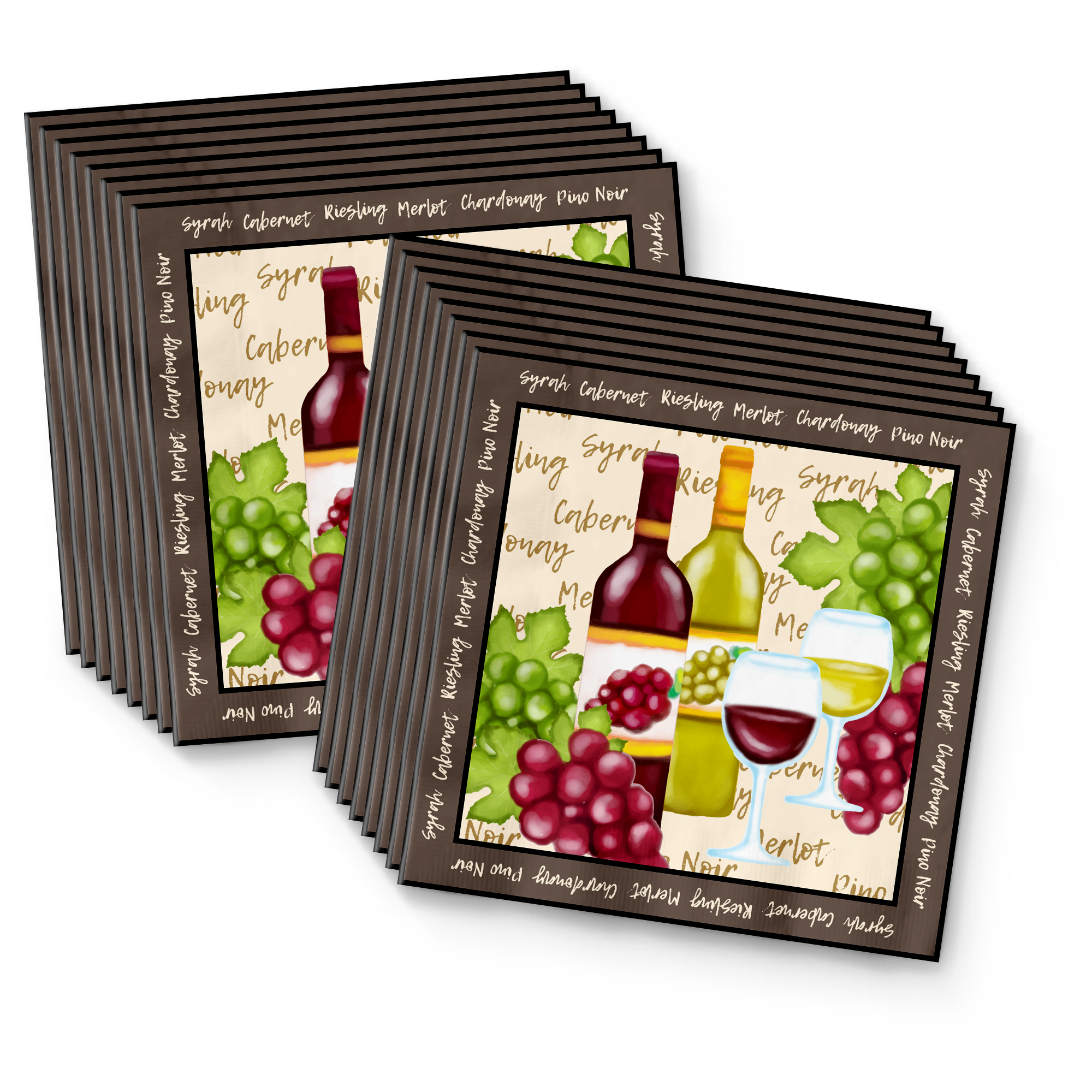 Wine Birthday Party Tableware Kit For 16 Guests - BirthdayGalore.com