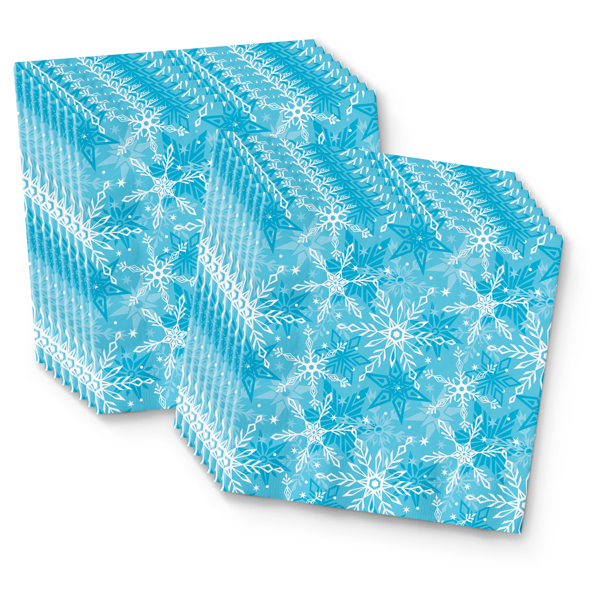 Snowflake Birthday Party Tableware Kit For 16 Guests - BirthdayGalore.com