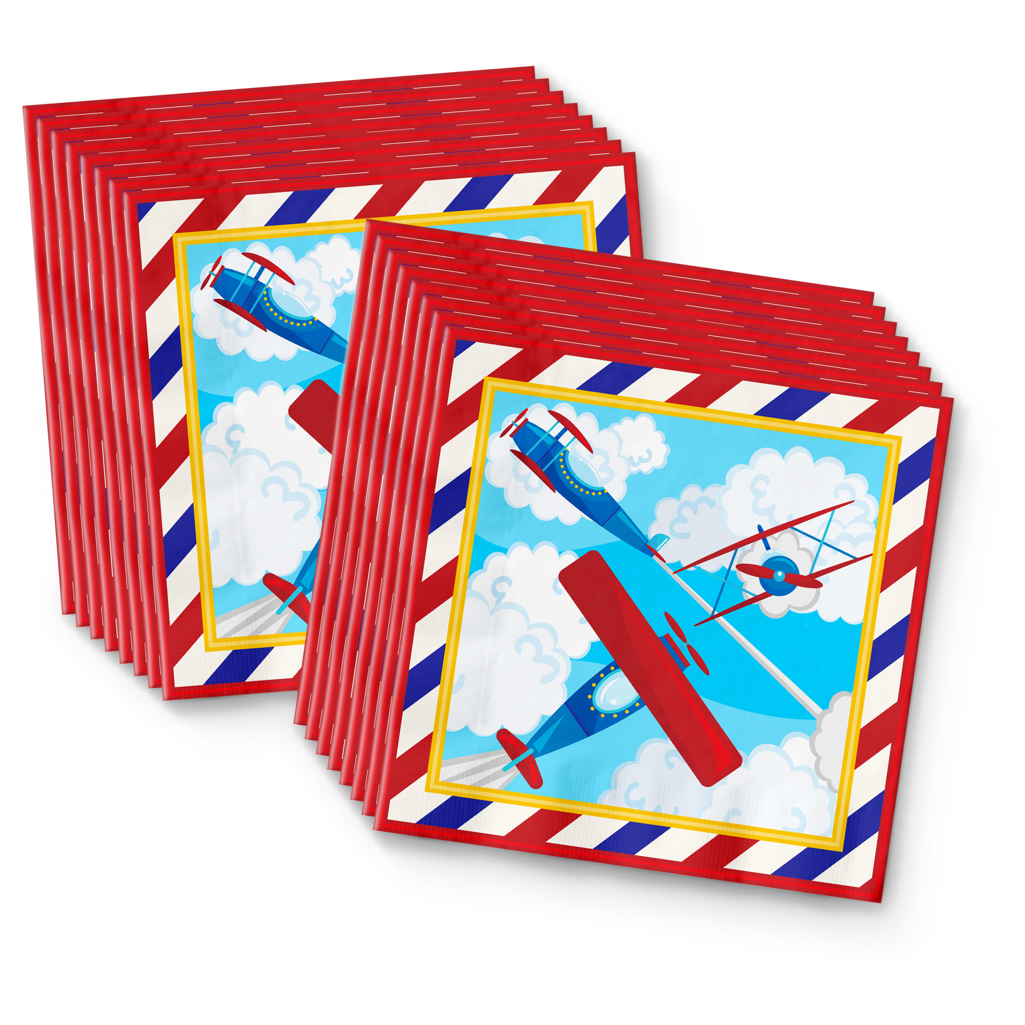 Airplane Birthday Party Tableware Kit For 16 Guests - BirthdayGalore.com