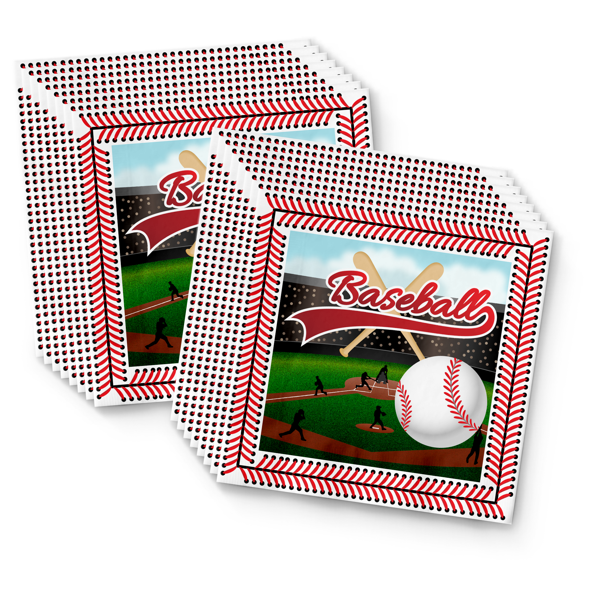 Baseball Birthday Party Tableware Kit For 16 Guests - BirthdayGalore.com