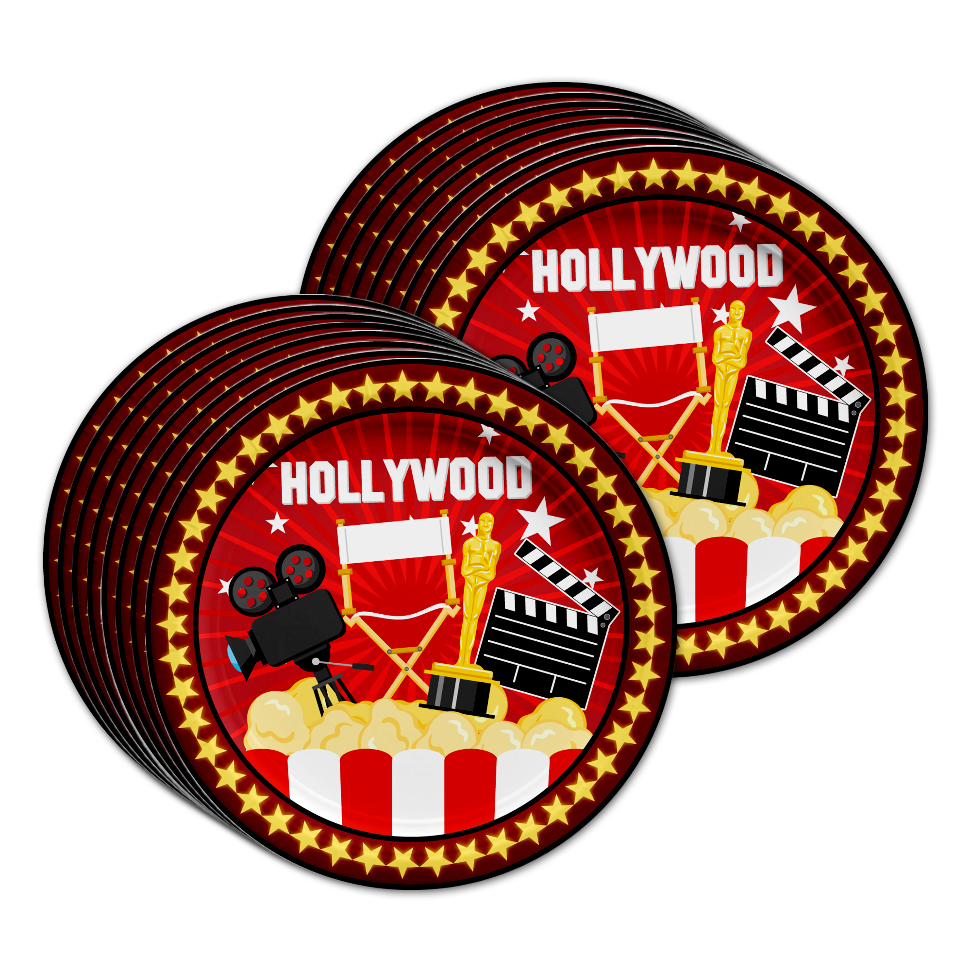 Hollywood Birthday Party Tableware Kit For 16 Guests - BirthdayGalore.com