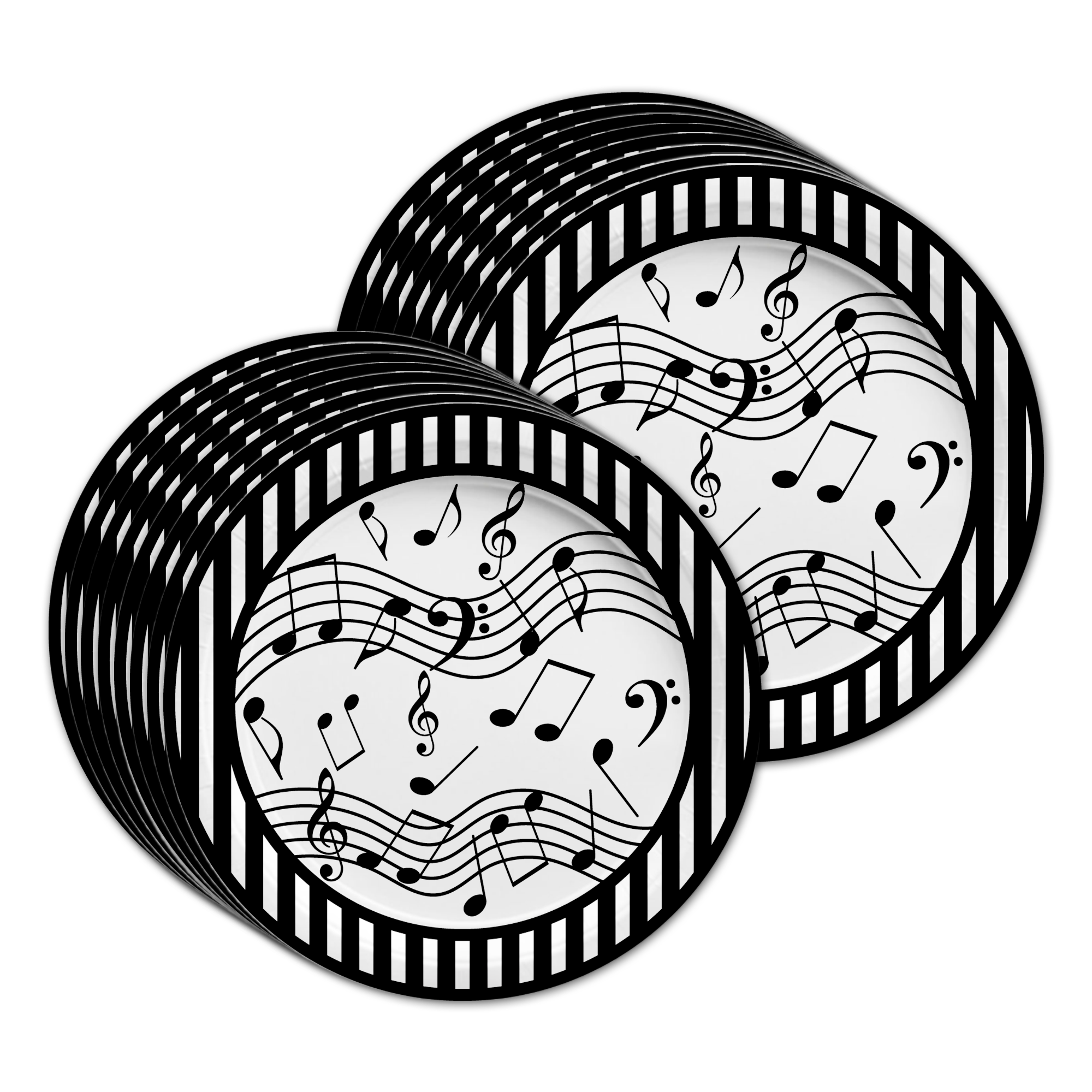 Classic Music Notes Birthday Party Tableware Kit For 16 Guests - BirthdayGalore.com
