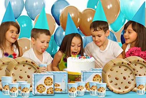Milk and Cookies Birthday Tableware Kit For 16 Guests