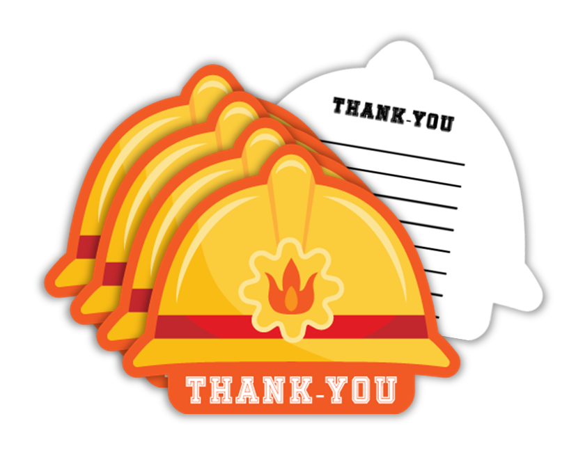 Fire Fighter Birthday Party Thank-you Notes (20) - BirthdayGalore.com