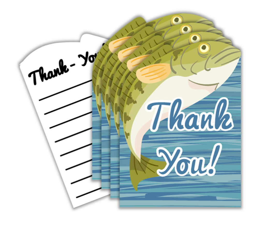 Gone Fishing Birthday Party Thank-you Notes (20)