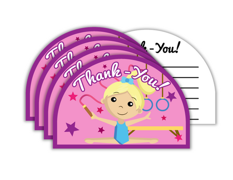 Gymnastics Star Birthday Party Thank-you Notes (20)