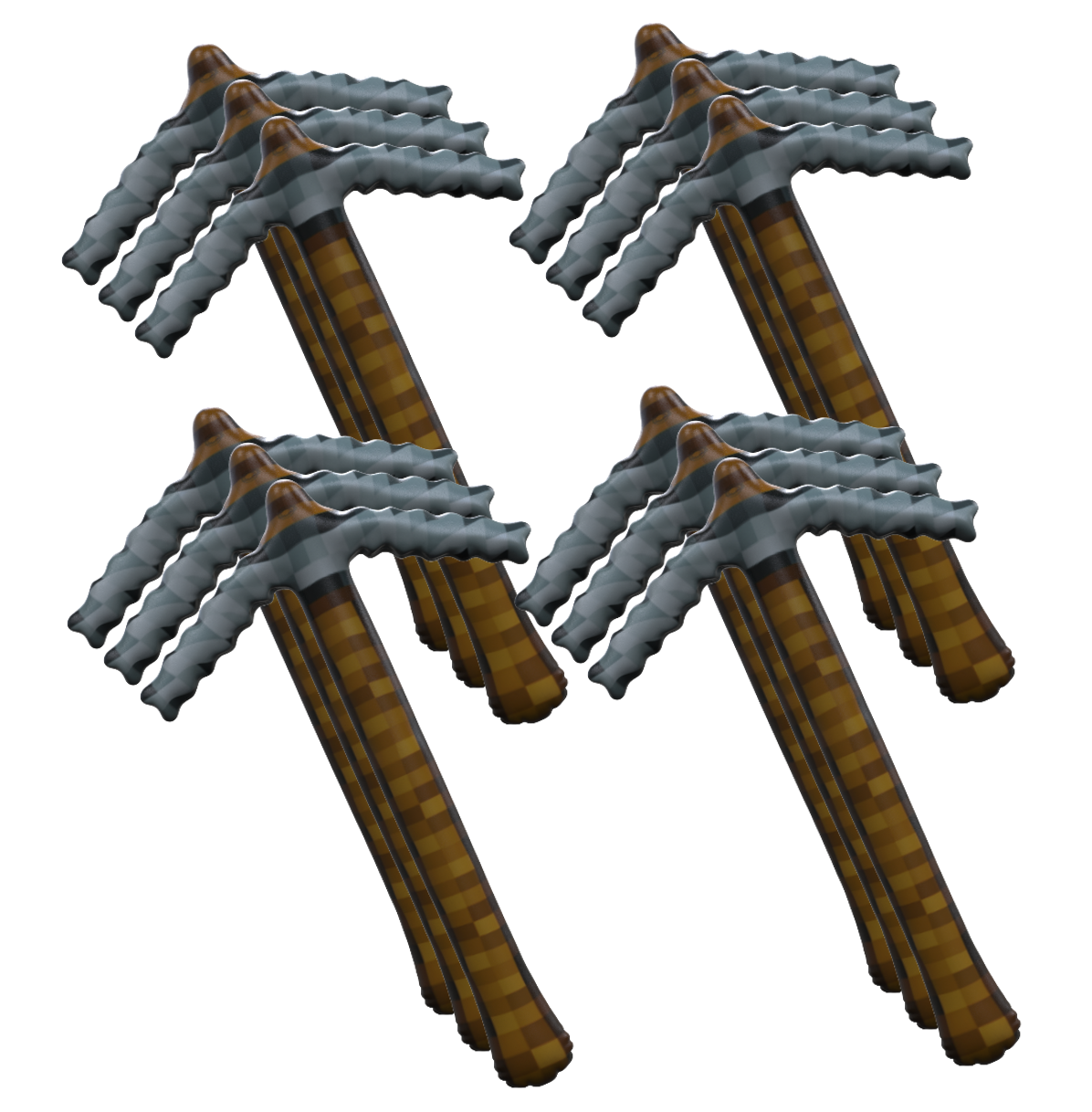 Pixel Mining Pickaxe Inflatable Toy Favor (8) - BirthdayGalore.com