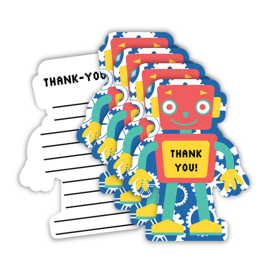 Robot Birthday Party Thank-you Notes (20)
