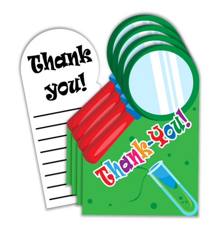 Super Science Birthday Party Thank-you Notes (20)