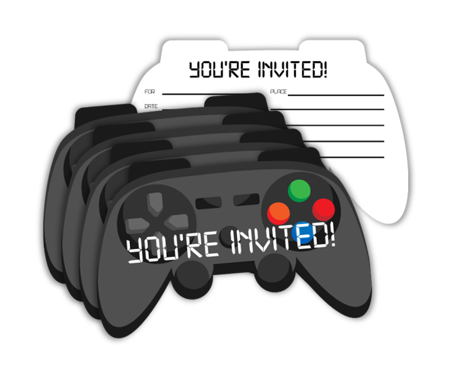 Video Gamer Game On Birthday Party Invitations (20) - BirthdayGalore.com