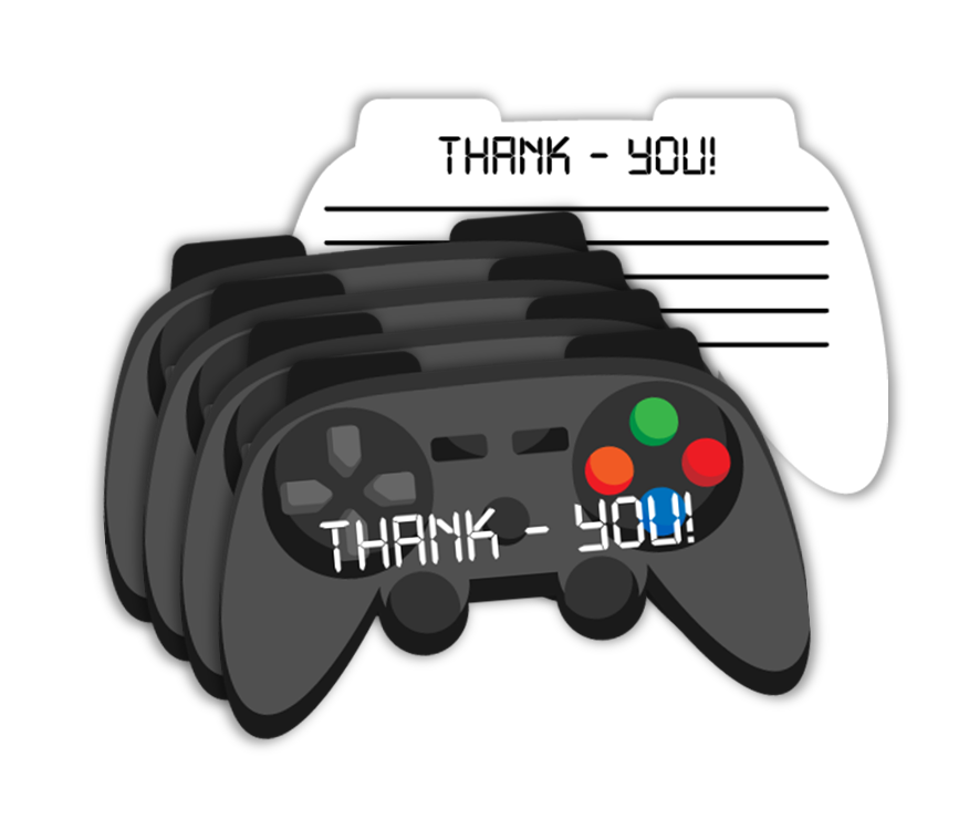 Video Gamer Game On Birthday Party Thank-you Notes (20)