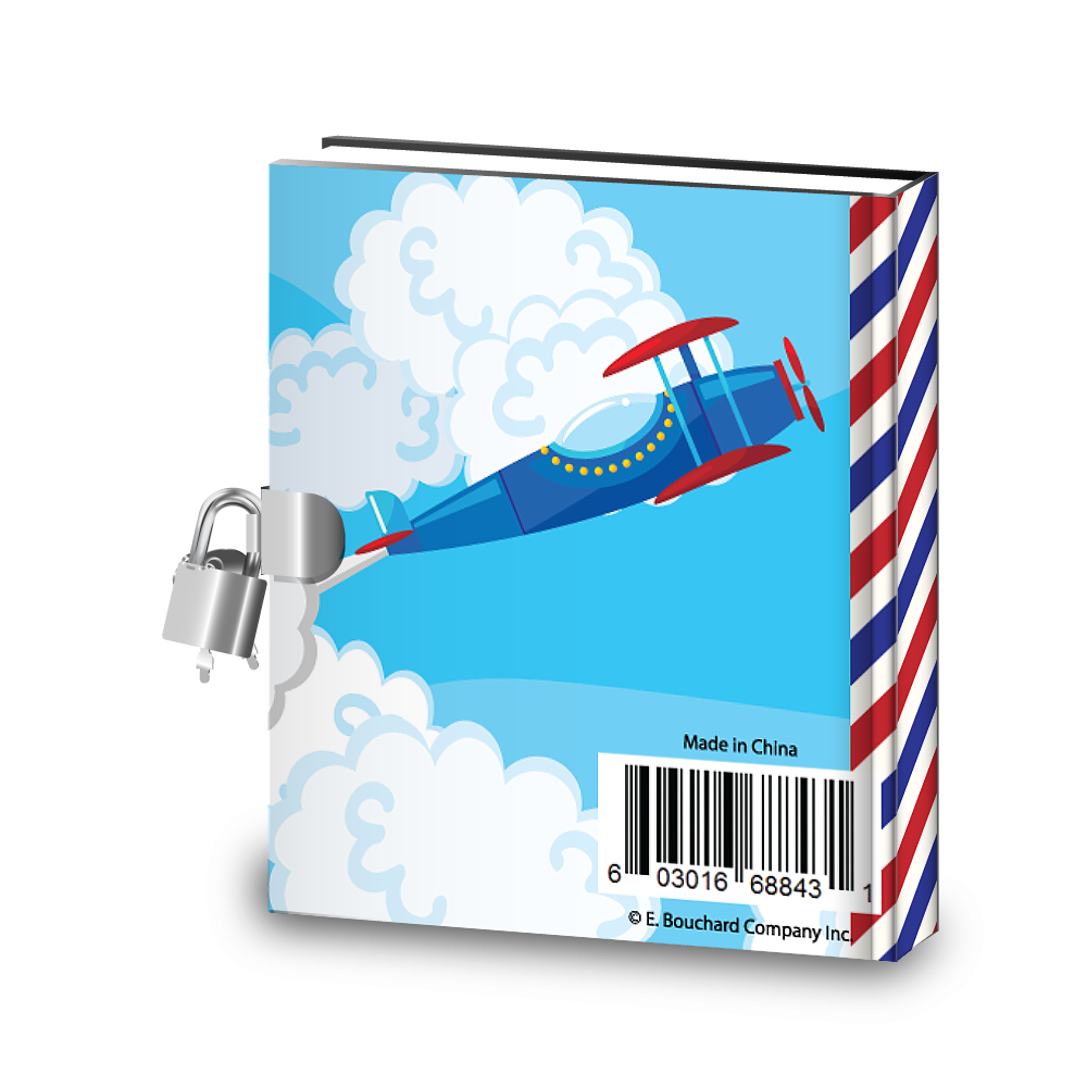 Gift Idea: Airplane Kids Diary With Lock - BirthdayGalore.com