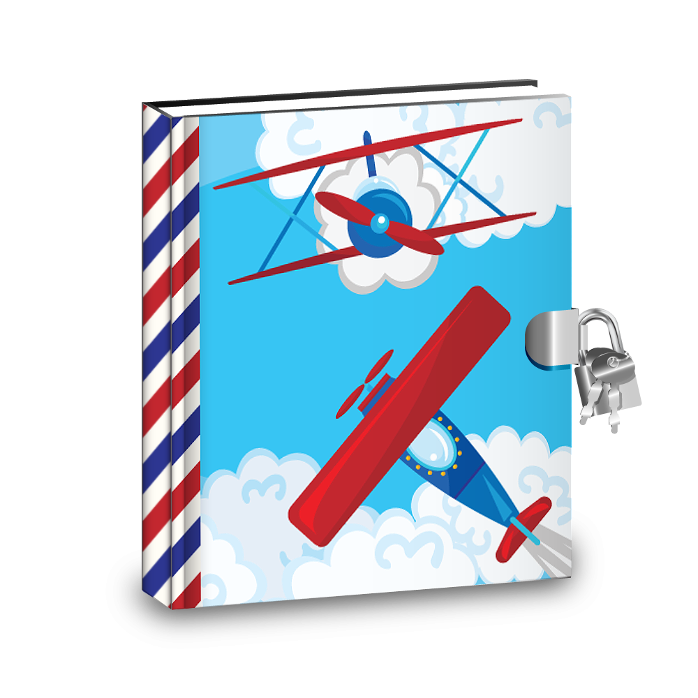 Gift Idea: Airplane Kids Diary With Lock