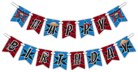 "Ninja Warrior ""Happy Birthday"" Party Banner"