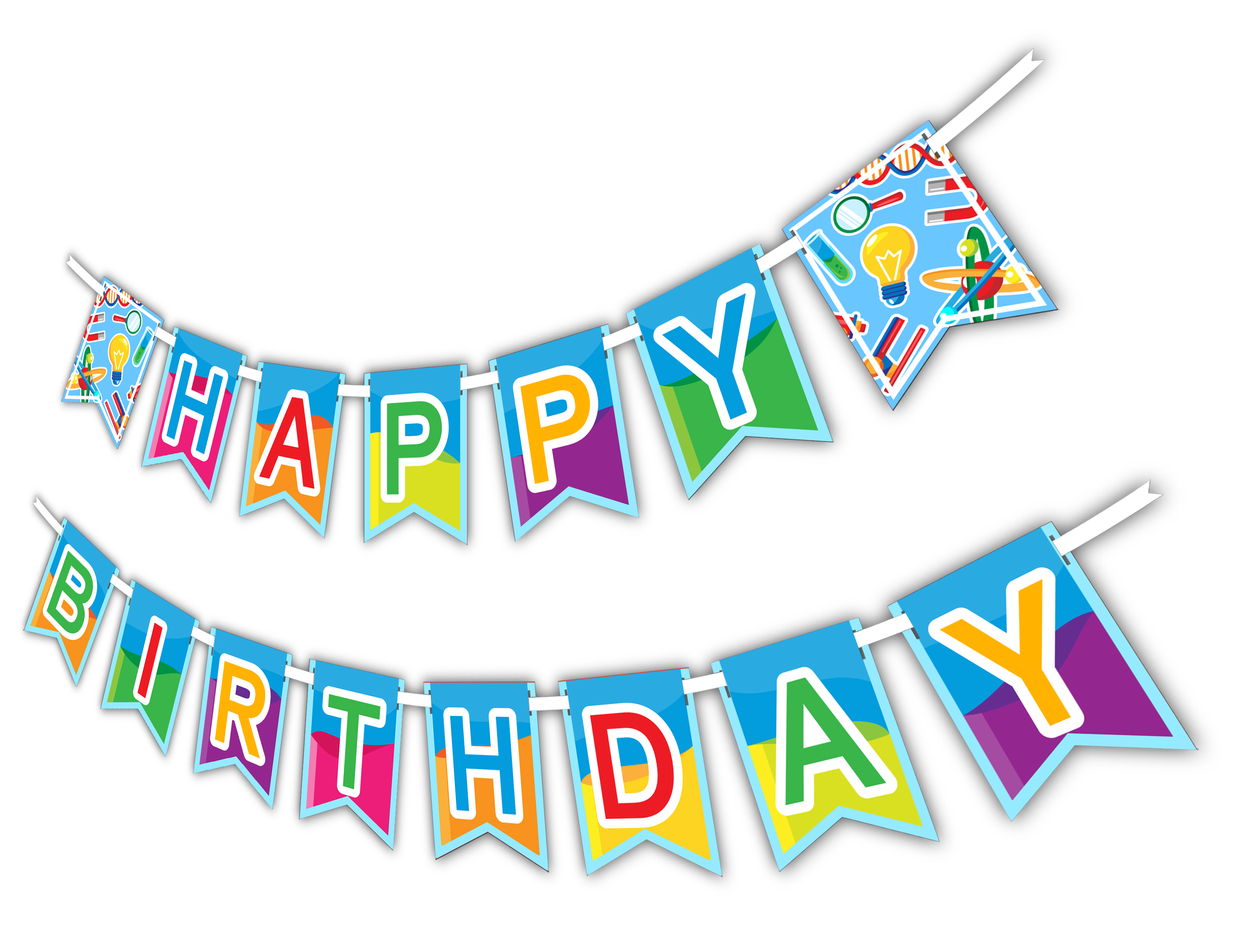 "Super Science ""Happy Birthday"" Party Banner - BirthdayGalore.com"