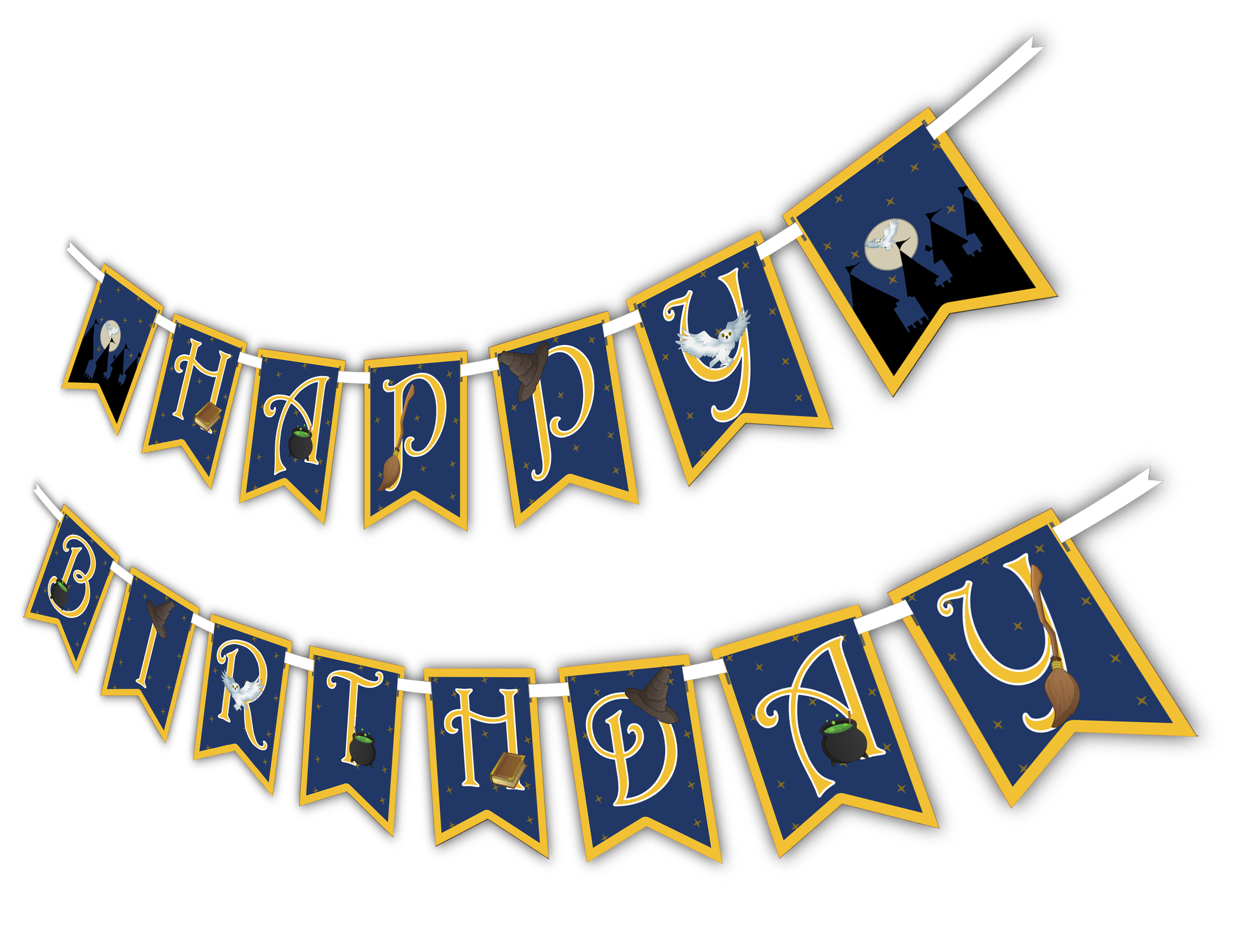 "Wizard Castle ""Happy Birthday"" Party Banner"