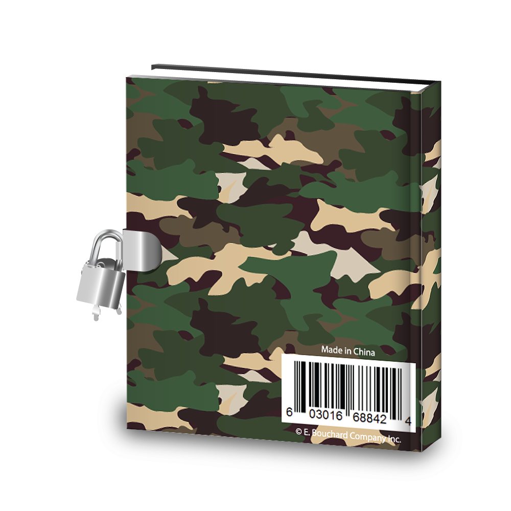 Gift Idea: Classic Camo Kids Diary With Lock - BirthdayGalore.com