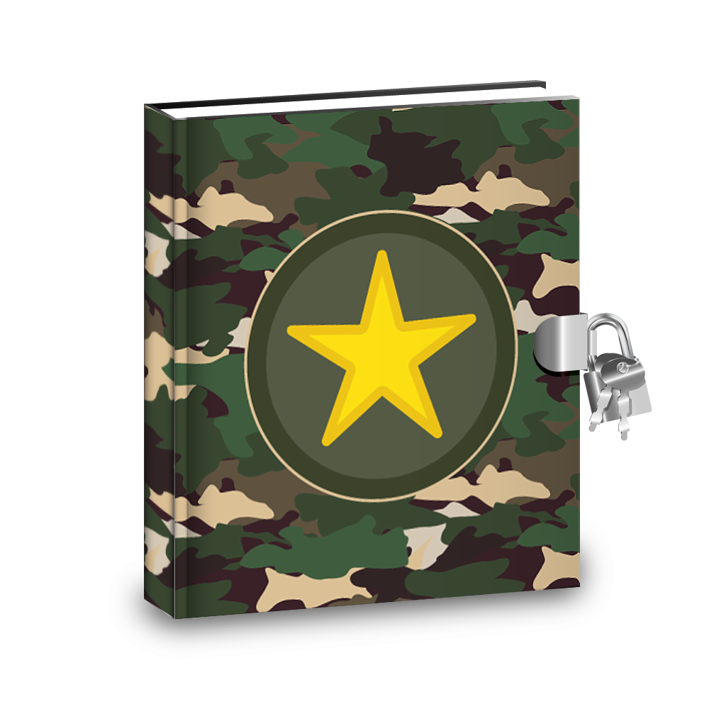 Gift Idea: Classic Camo Kids Diary With Lock