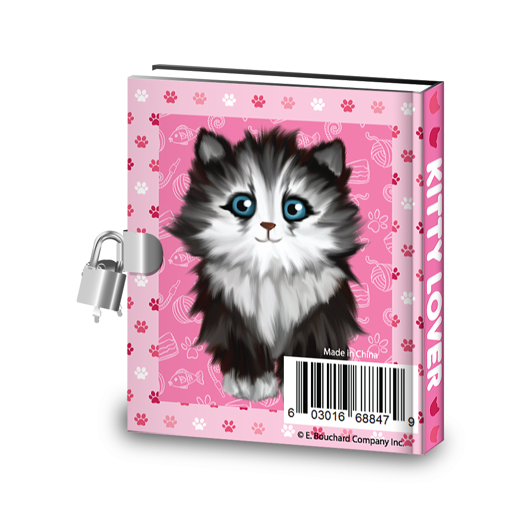 Gift Idea: Kitty Cat Kids Diary With Lock - BirthdayGalore.com