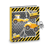 Gift Idea: Construction Trucks Kids Diary With Lock