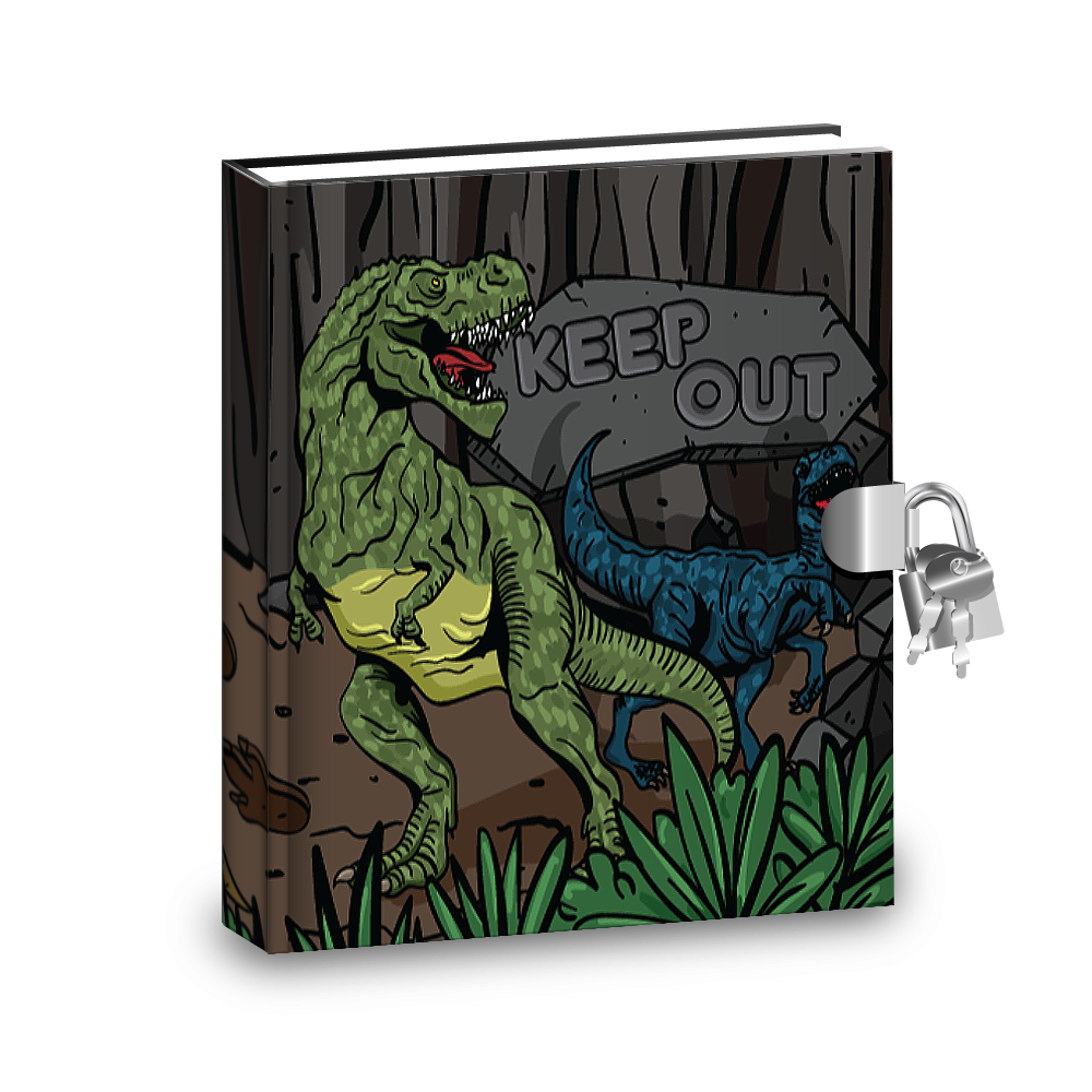 Gift Idea: Dinosaur T-Rex Kids Diary With Lock - BirthdayGalore.com