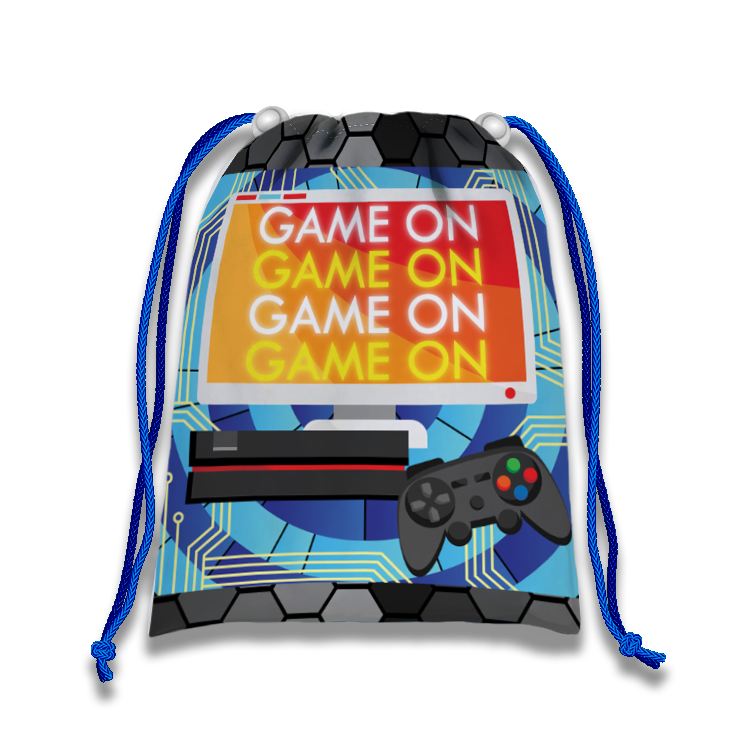 Video Gamer Game On Drawstring Tote Bag - BirthdayGalore.com