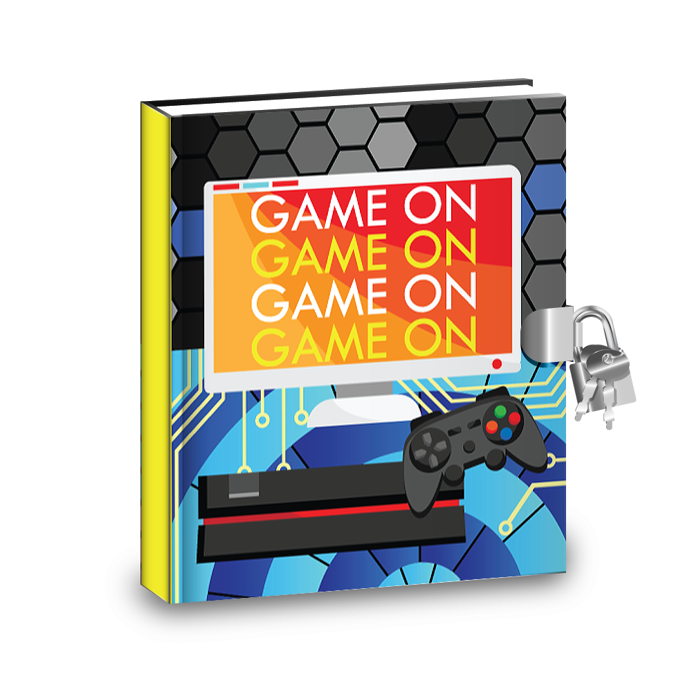 Gift Idea: Video Gamer Game On Kids Diary With Lock - BirthdayGalore.com