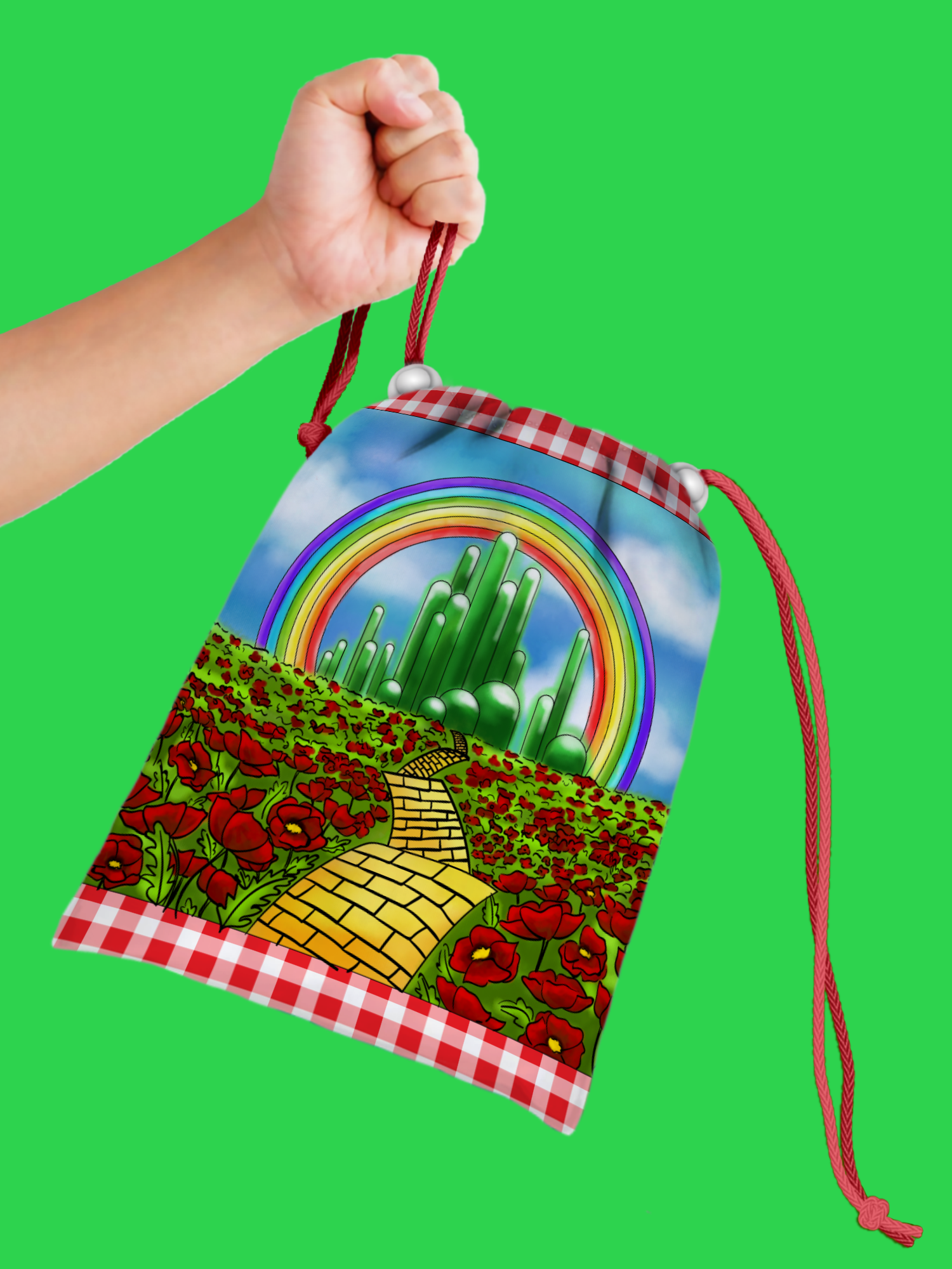 The Wonderful Wizard of Oz Drawstring Tote Bag (10 Pack) - BirthdayGalore.com