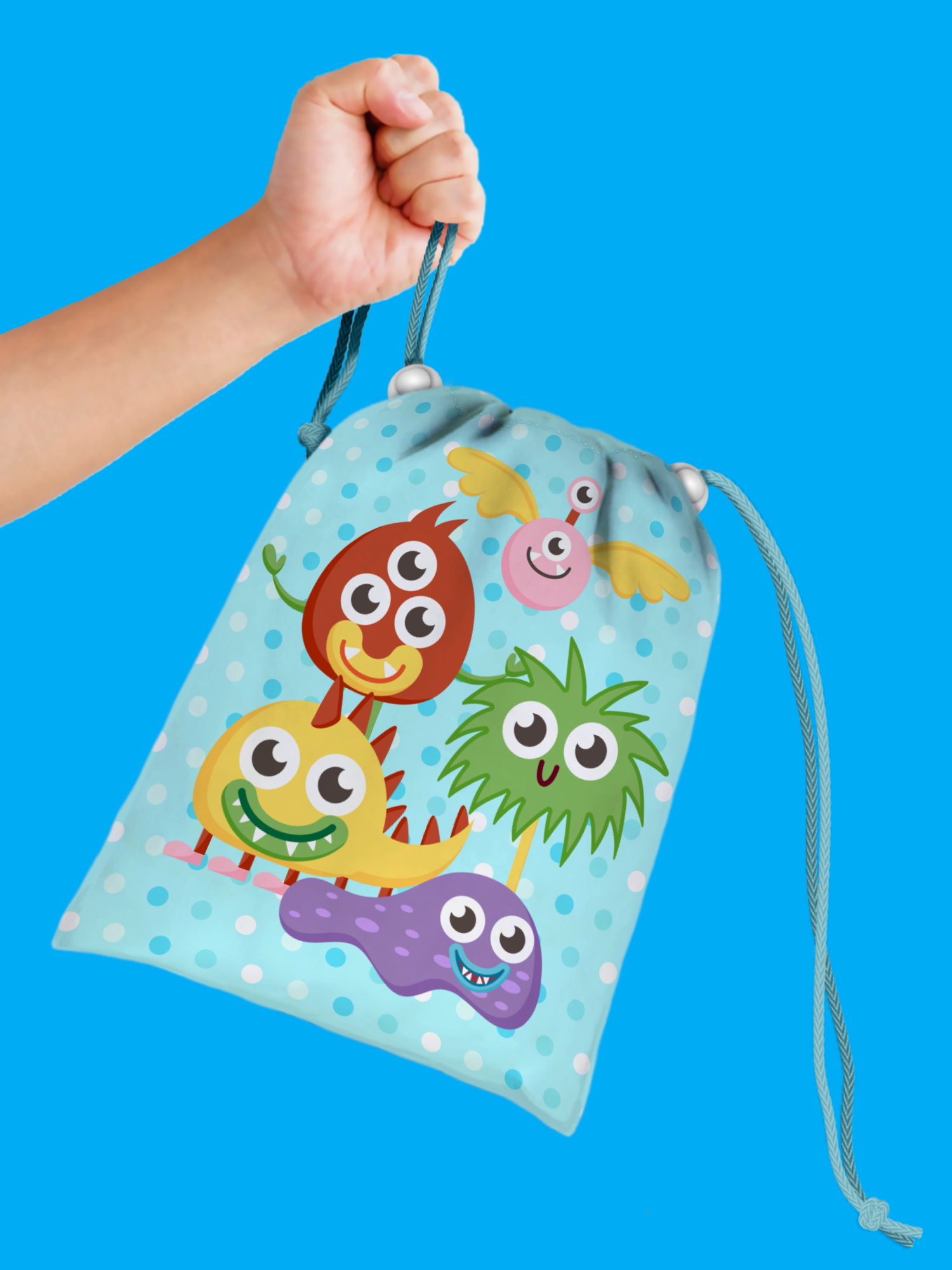 Mighty Monster Drawstring Tote Bag (10 Pack) - BirthdayGalore.com