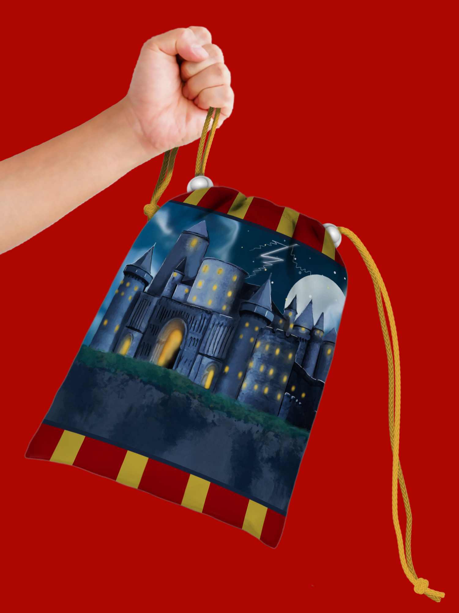 Wizard Castle Drawstring Tote Bag (10 Pack) - BirthdayGalore.com