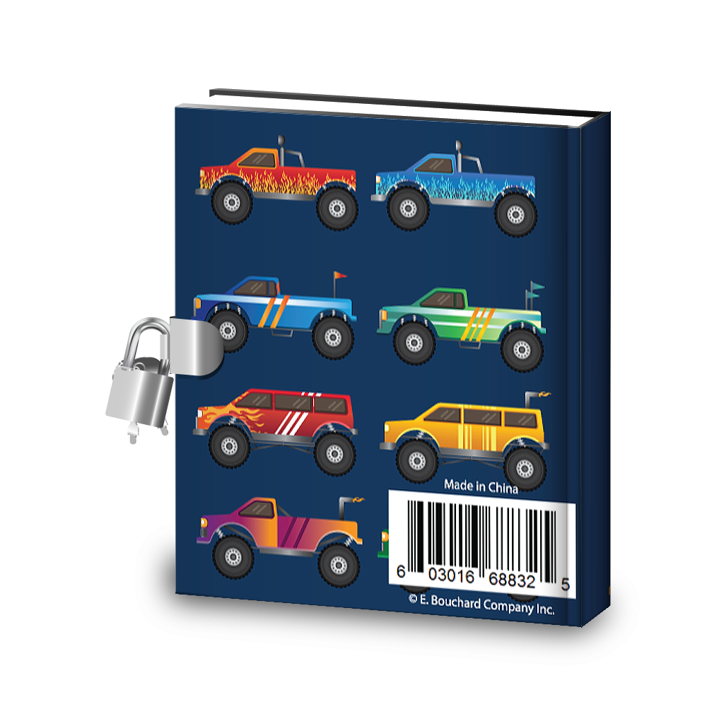 Gift Idea: Monster Truck Kids Diary With Lock - BirthdayGalore.com