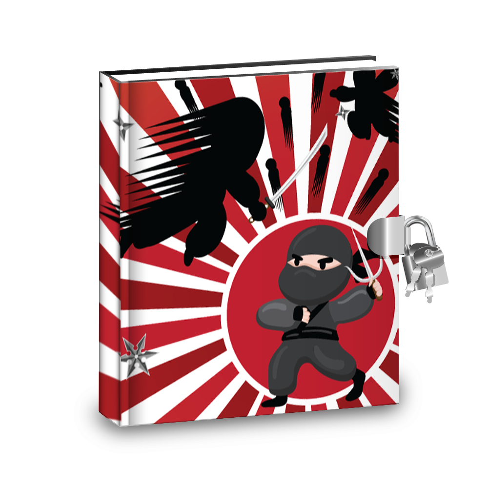 Gift Idea: Ninja Warrior Kids Diary With Lock - BirthdayGalore.com