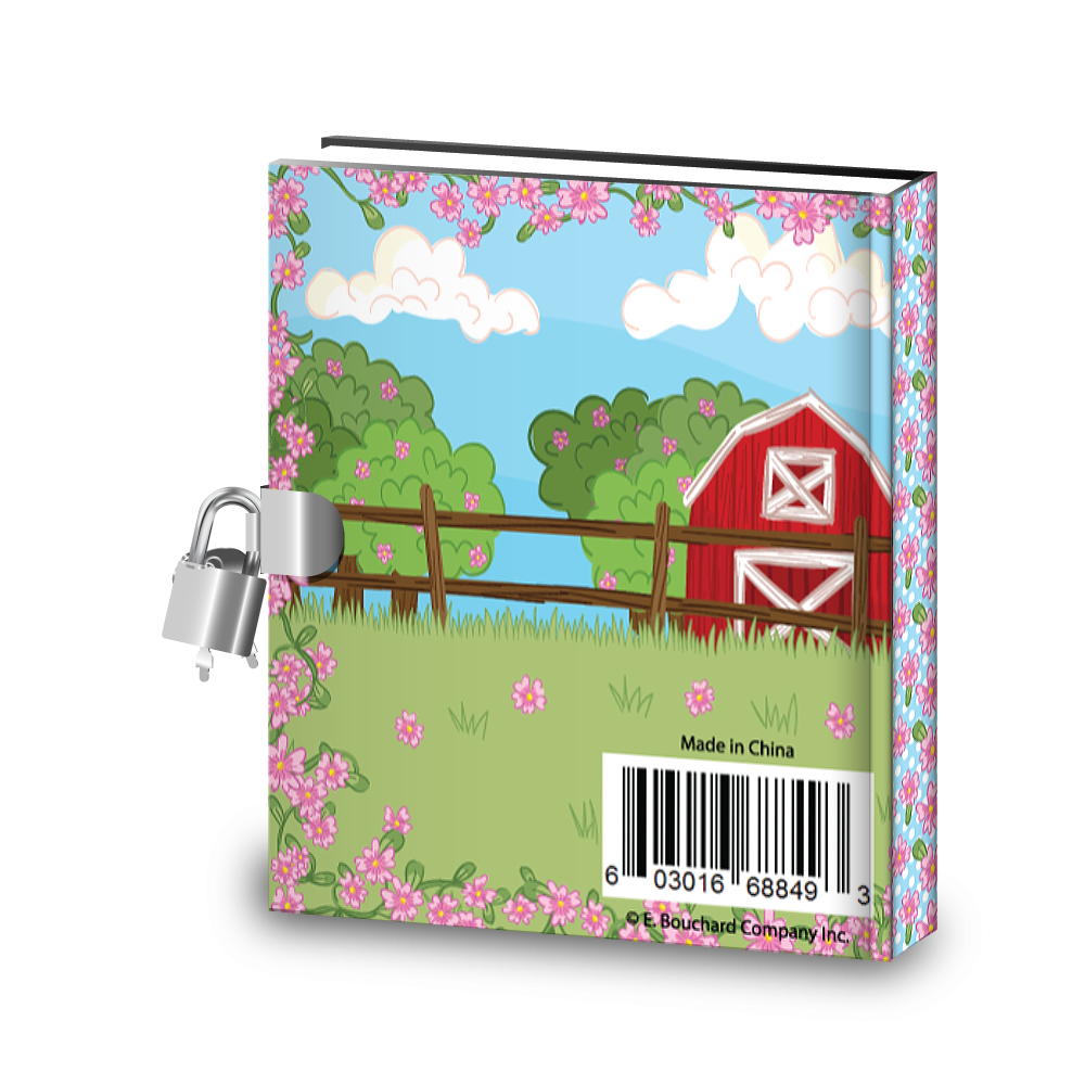 Gift Idea: Lovely Pink Horse Kids Diary With Lock - BirthdayGalore.com