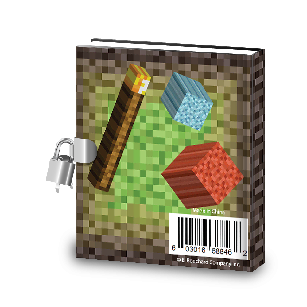 Gift Idea: Pixel Mining Kids Diary With Lock - BirthdayGalore.com