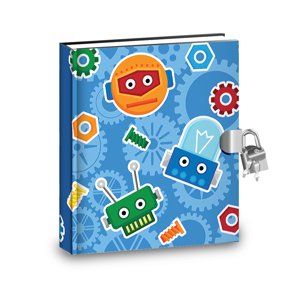 Gift Idea: Robot Kids Diary With Lock - BirthdayGalore.com