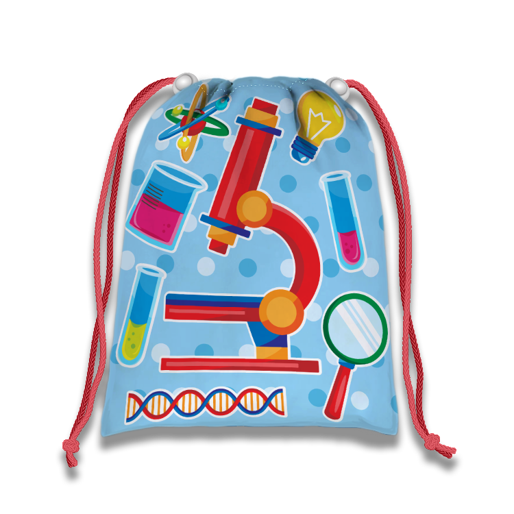 Science Drawstring Tote Bag (10 Pack) - BirthdayGalore.com