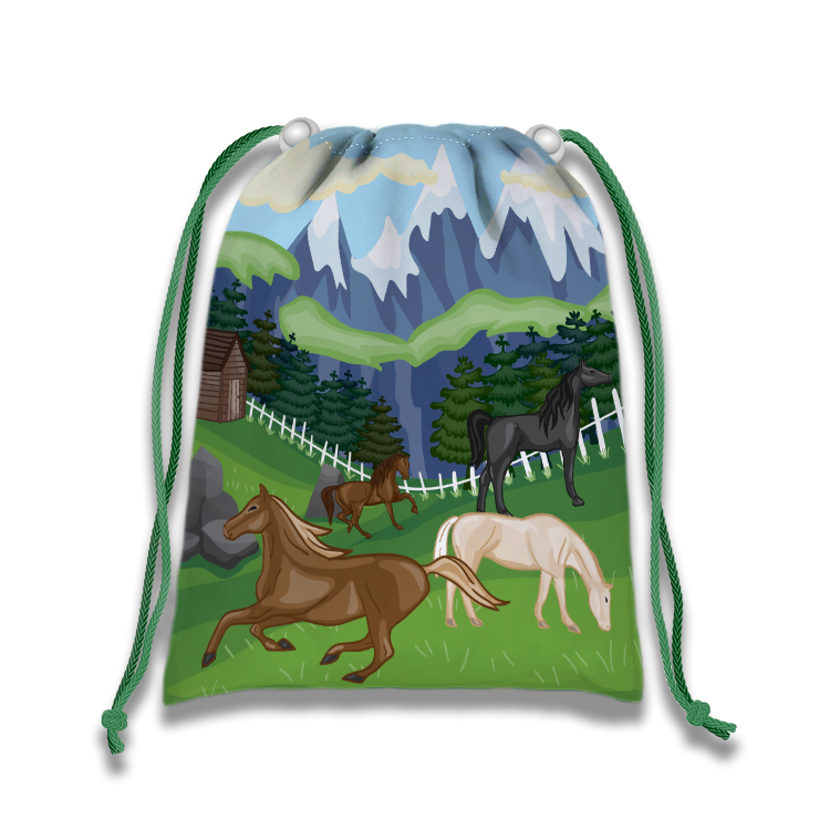 Wild Horses Drawstring Tote Bag (10 Pack) - BirthdayGalore.com