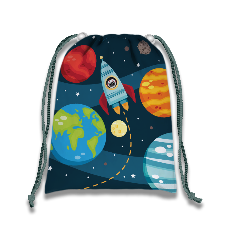 Space Solar System Drawstring Tote Bag (10 Pack) - BirthdayGalore.com
