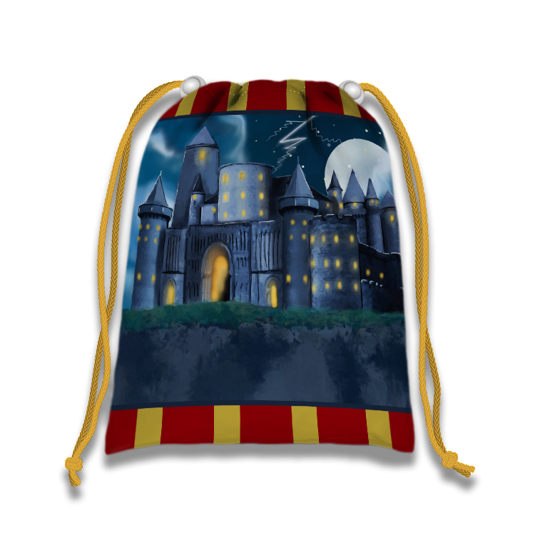Wizard Castle Drawstring Tote Bag (10 Pack)