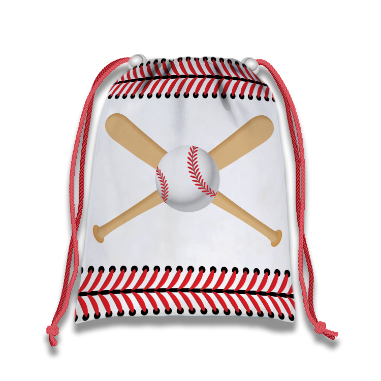 Baseball Drawstring Tote Bag (10 Pack) - BirthdayGalore.com