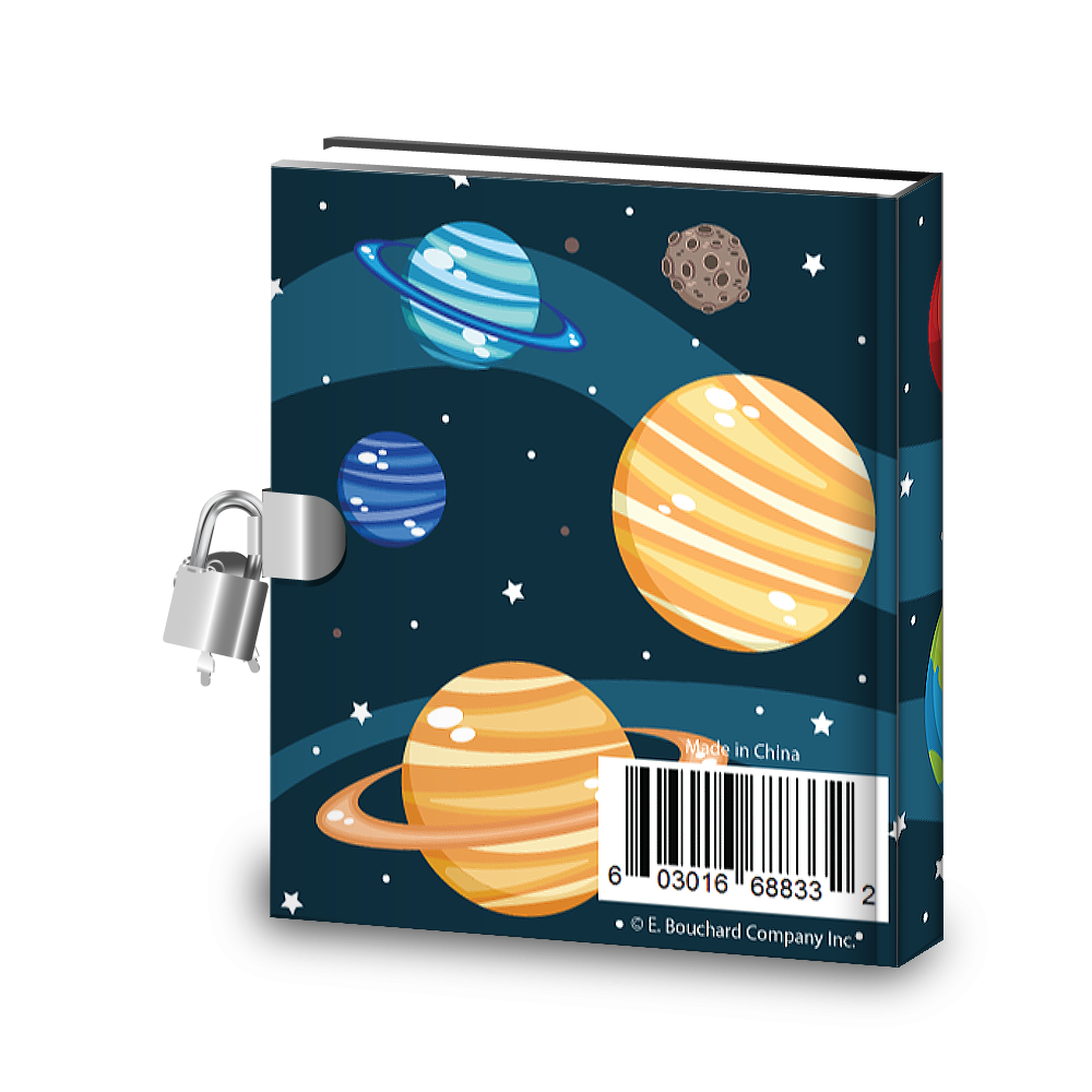 Gift Idea: Space Kids Diary With Lock - BirthdayGalore.com