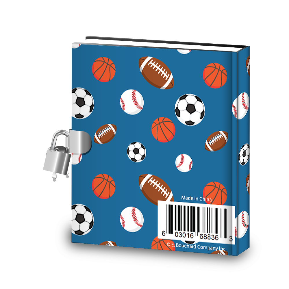 Gift Idea: Sports Kids Diary With Lock - BirthdayGalore.com