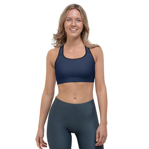 Elite Navy Sports Bra - HomeProGym