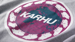 Karhu, Worldwide t-shirt - Heather Grey/White - Alava Shop