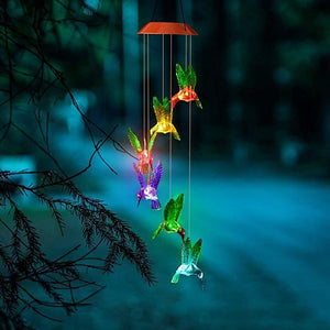 Solar LED Waterproof Hummingbird Wind Chime