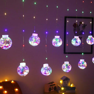 Christmas LED Ball Curtain Decoration